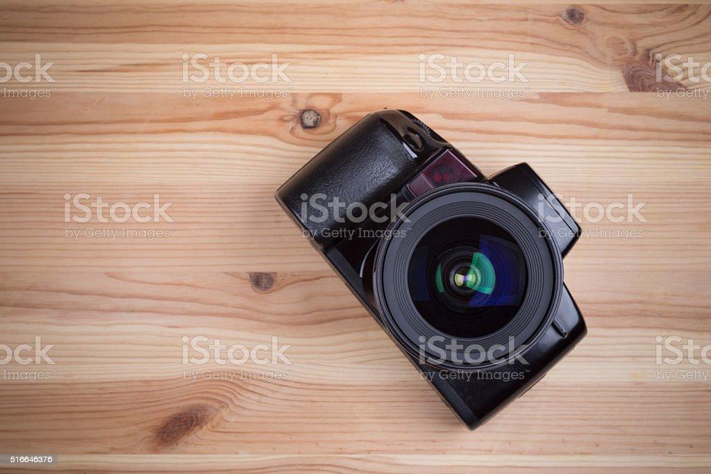 Analog SLR camera stock photo