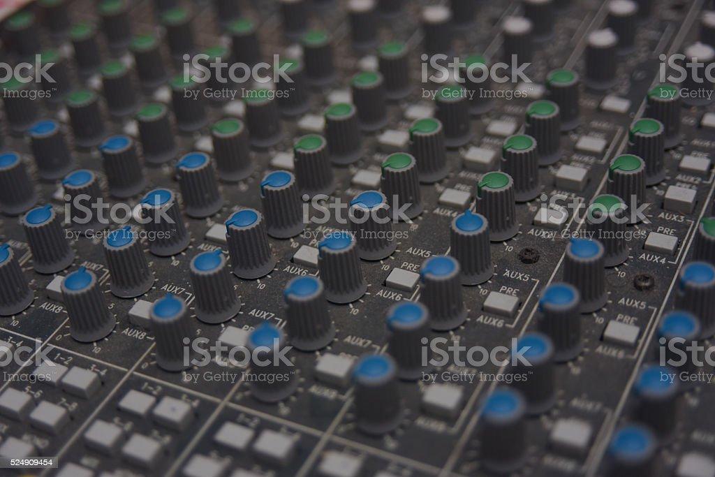 Analog Soundboard stock photo