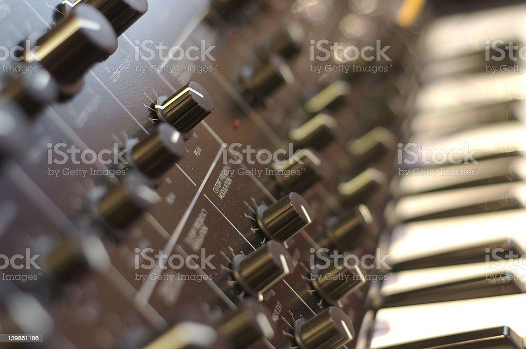 Analog Synthesizer royalty-free stock photo