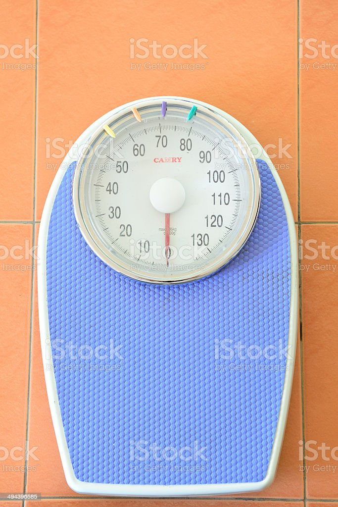 Analog weight scale isolated royalty-free stock photo