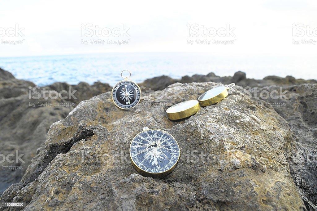 Analogic Compass stock photo