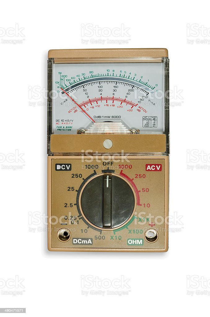 Analogic Volt-Ohm meter multimeter stock photo