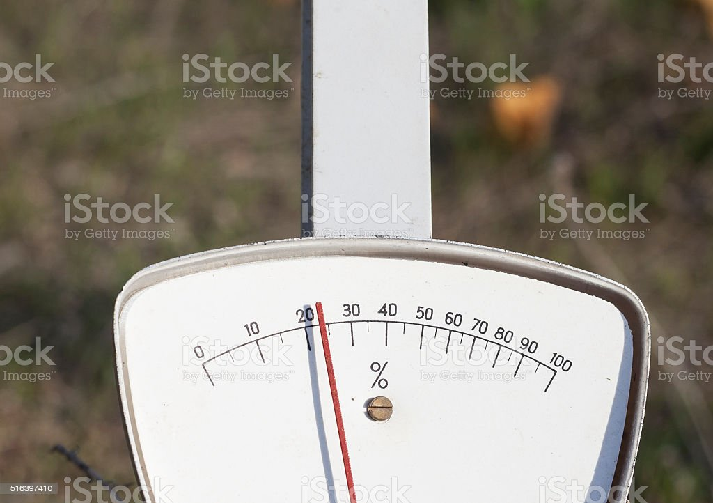 Analogue Percent Measure stock photo