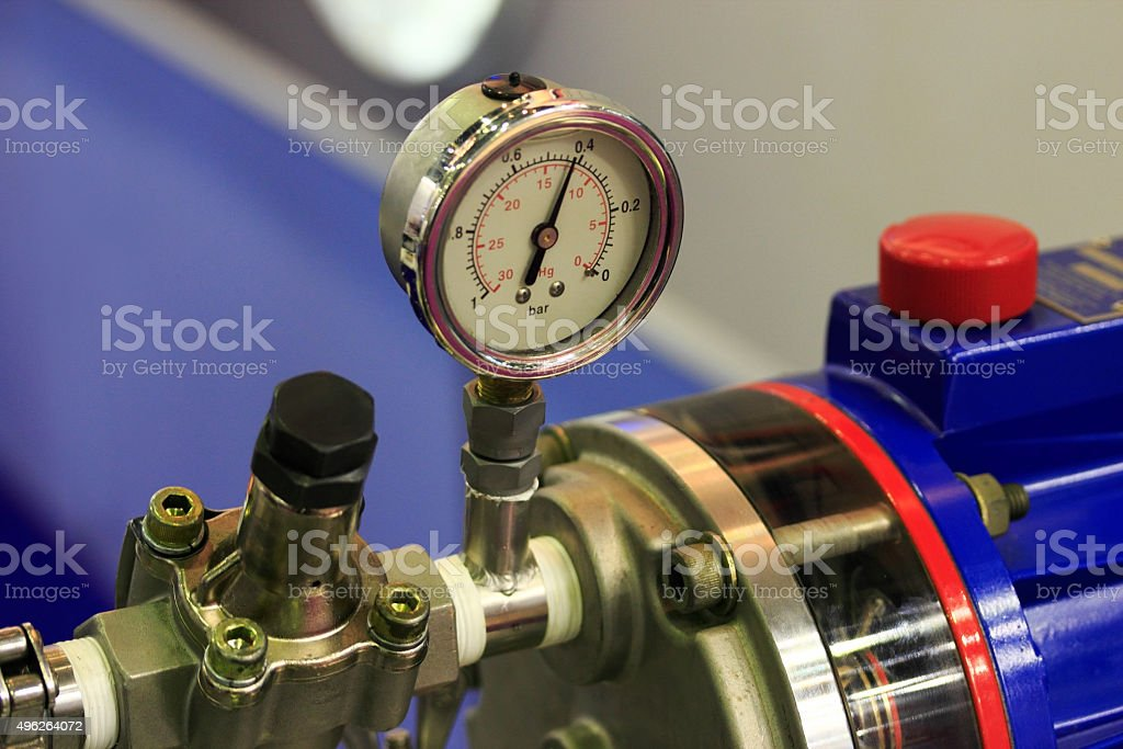 analogue pressure gauge stock photo