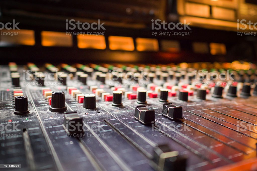 Analogue Studio Mixing Desk stock photo