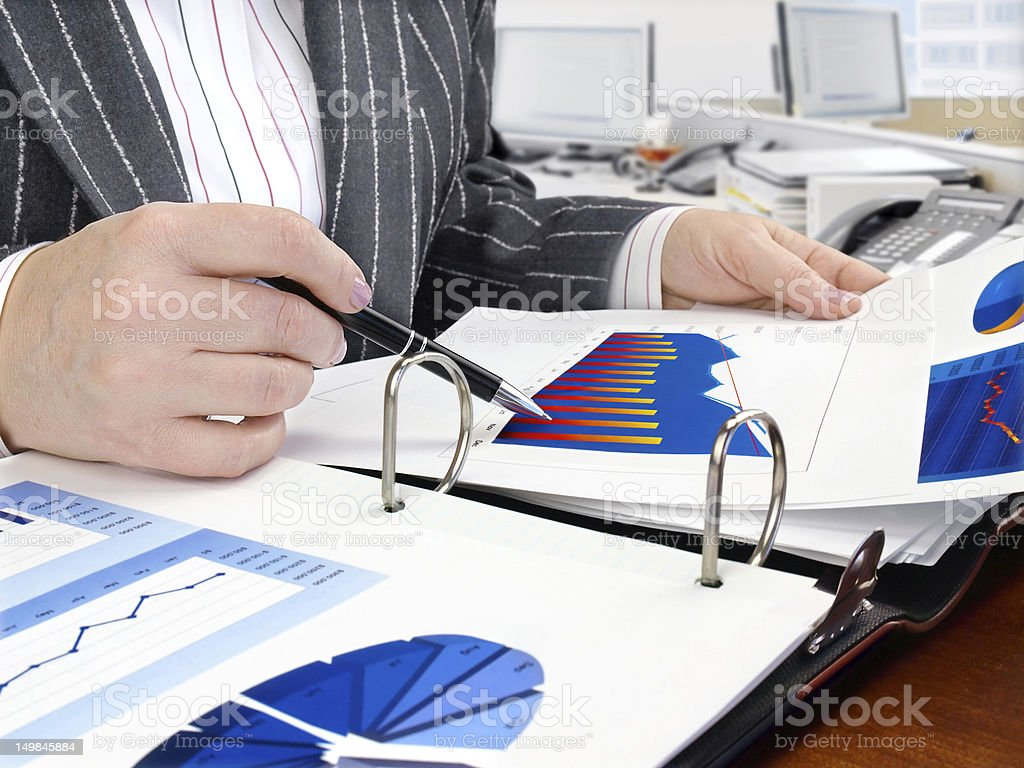 Analysing Data royalty-free stock photo