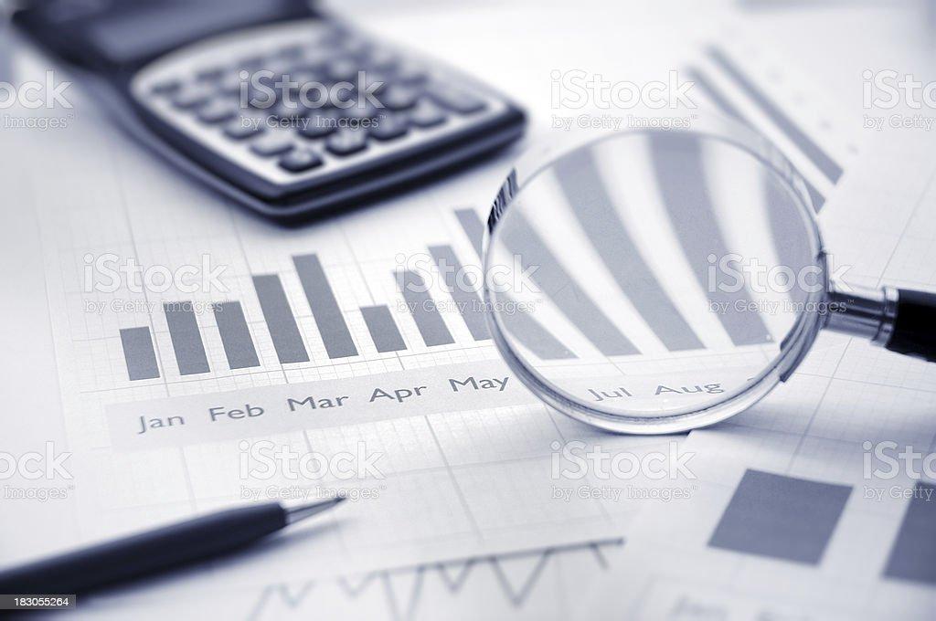 analysing stock photo