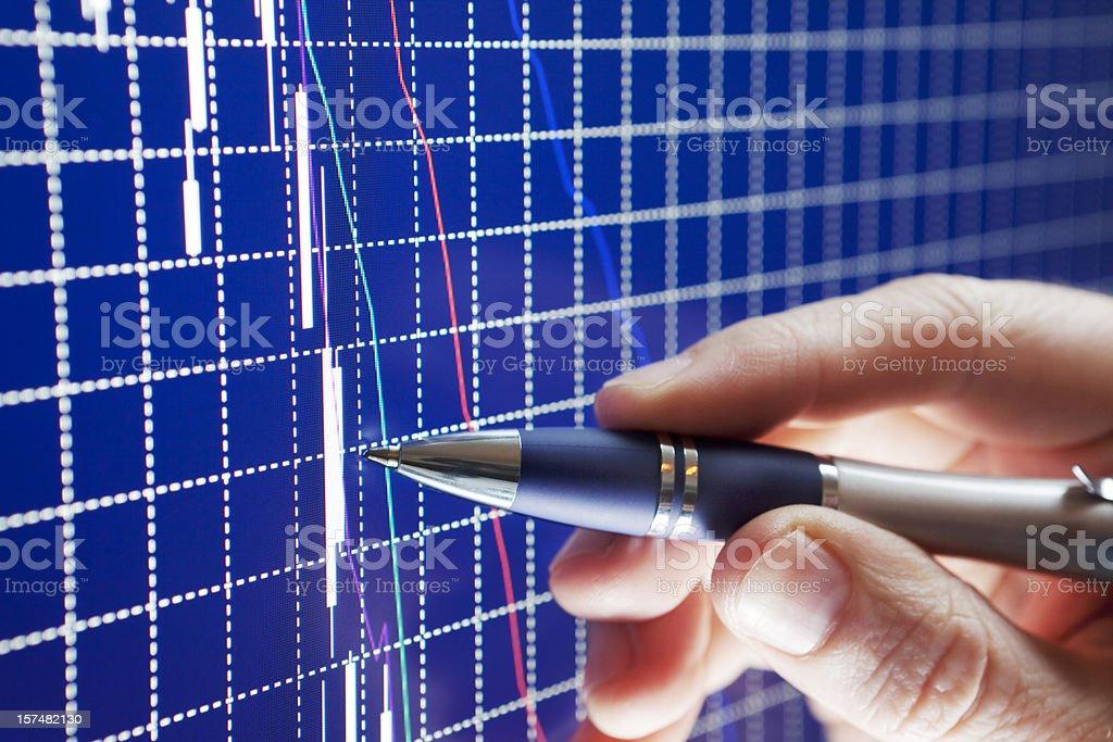 Analysing the market crash stock photo