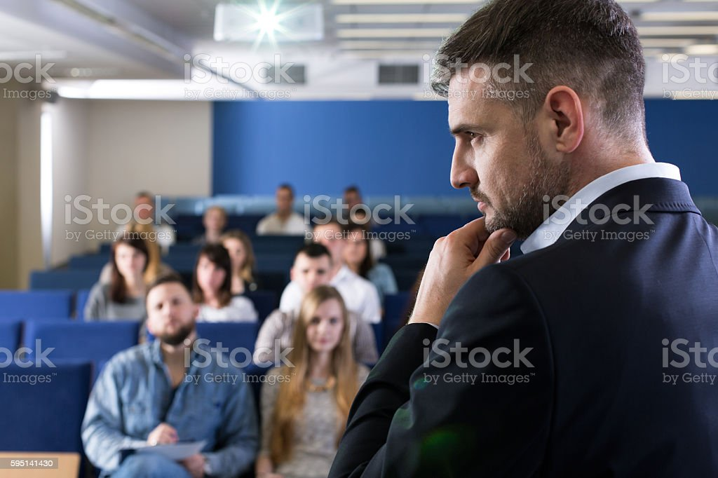 Analysing the next topic for discussion stock photo