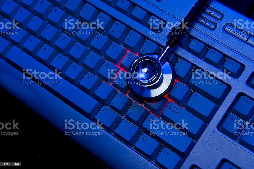 Analysis for Computer Virus royalty-free stock photo