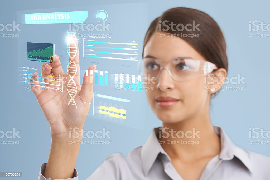 DNA analysis in progress... stock photo