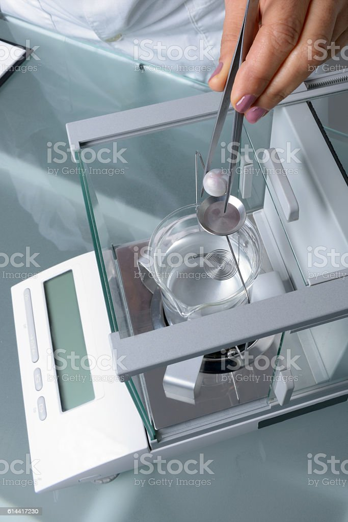 Analysis of a Pearl stock photo