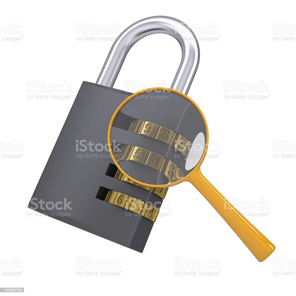 Analysis of security lock code royalty-free stock photo