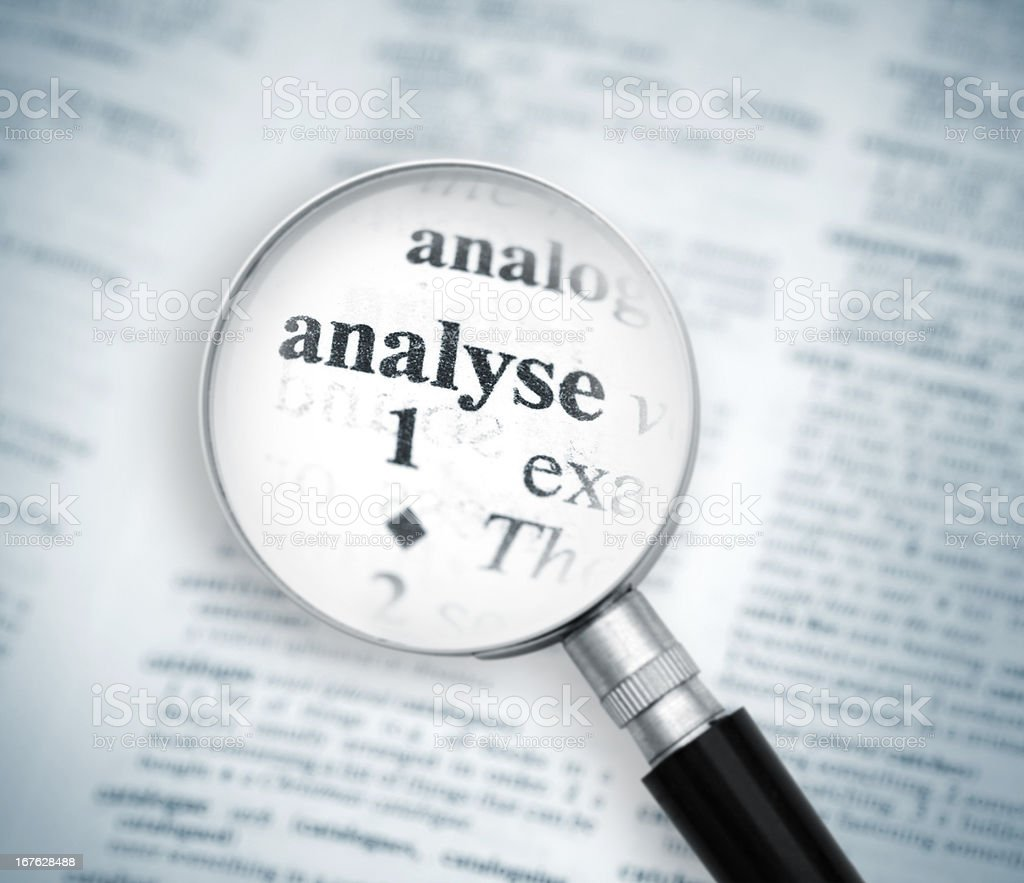 Analyse stock photo
