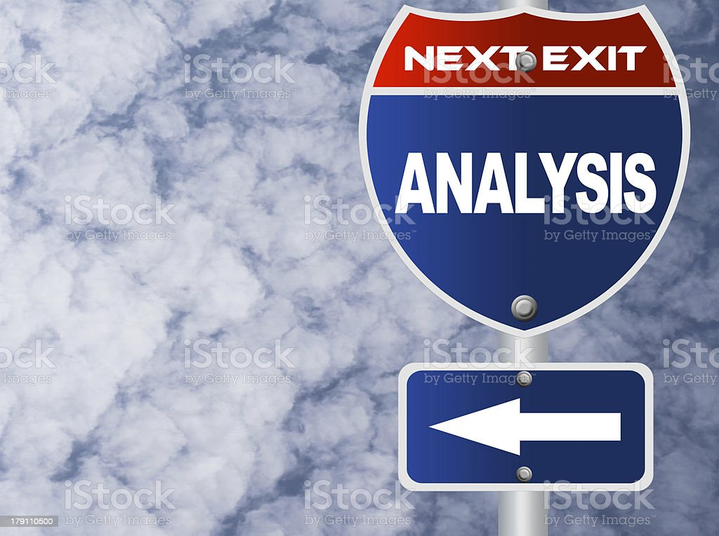 Analysis road sign royalty-free stock photo