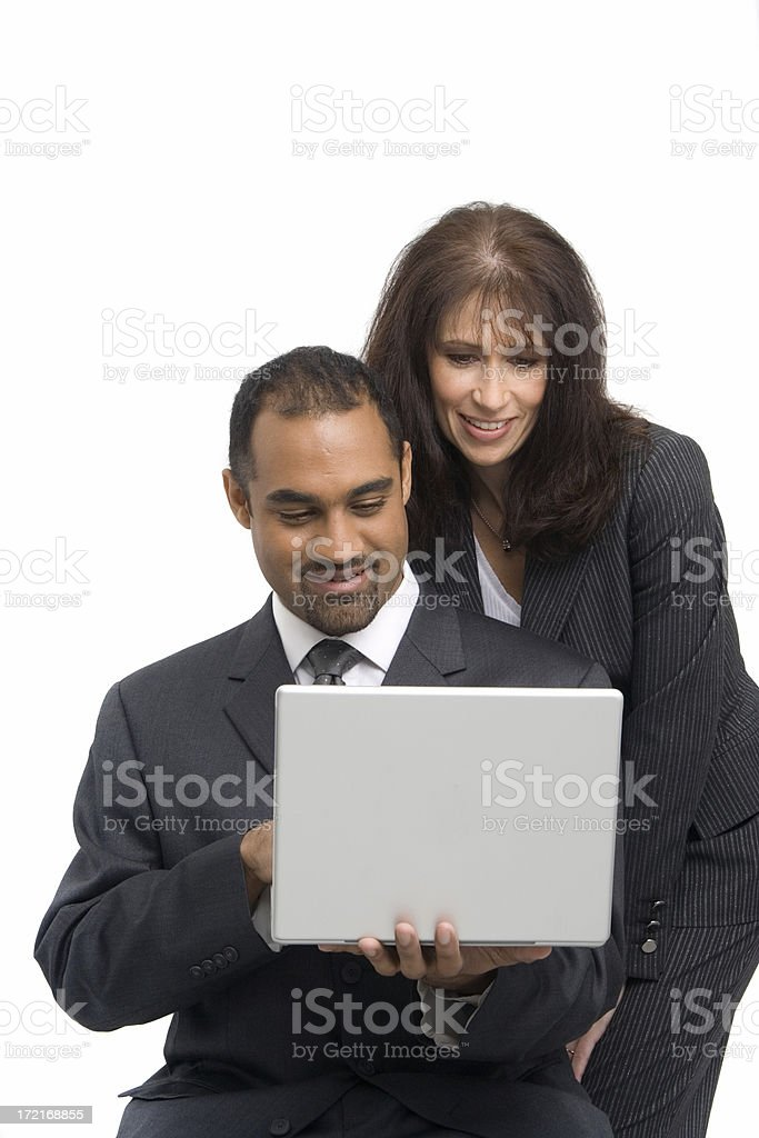 Analysts at work royalty-free stock photo