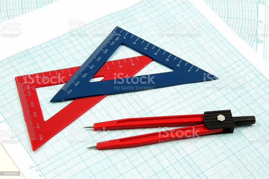 Analytic geometry gear royalty-free stock photo