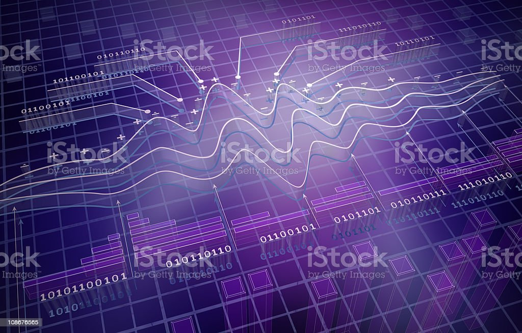 IT analytics , 3D background royalty-free stock photo