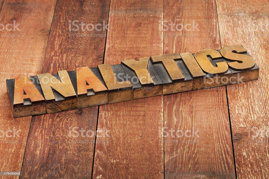 analytics word typography royalty-free stock photo