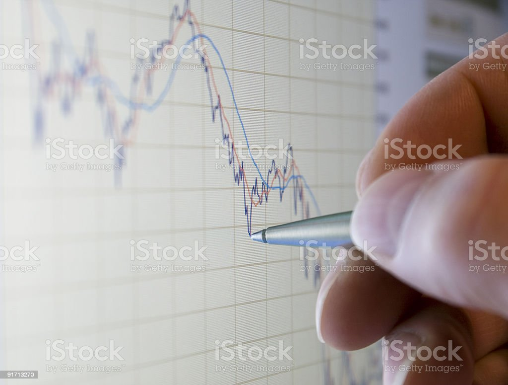 Analyze market share prices royalty-free stock photo