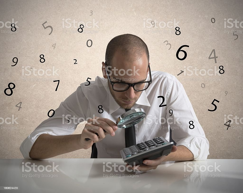 Analyze the numbers royalty-free stock photo