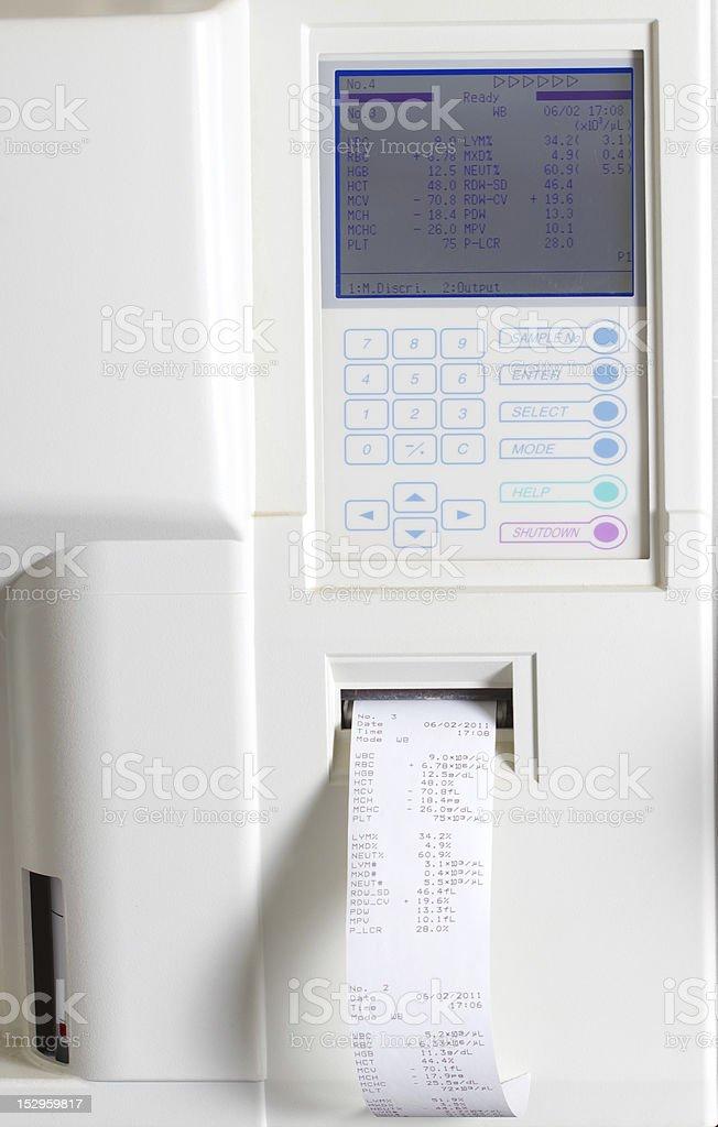 Analyzer blood stock photo