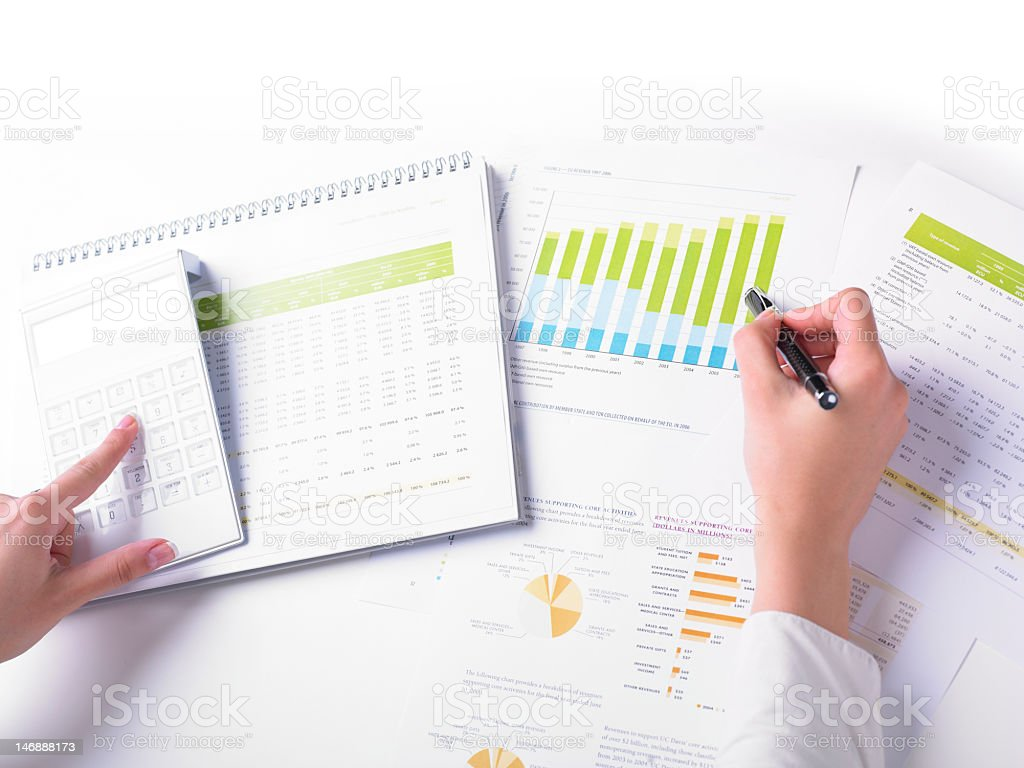 Analyzing Business Data royalty-free stock photo