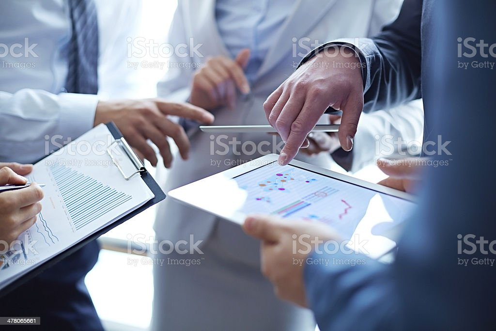 Analyzing business growth stock photo