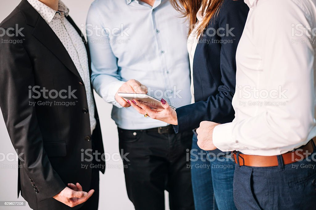 Analyzing business growth royalty-free stock photo