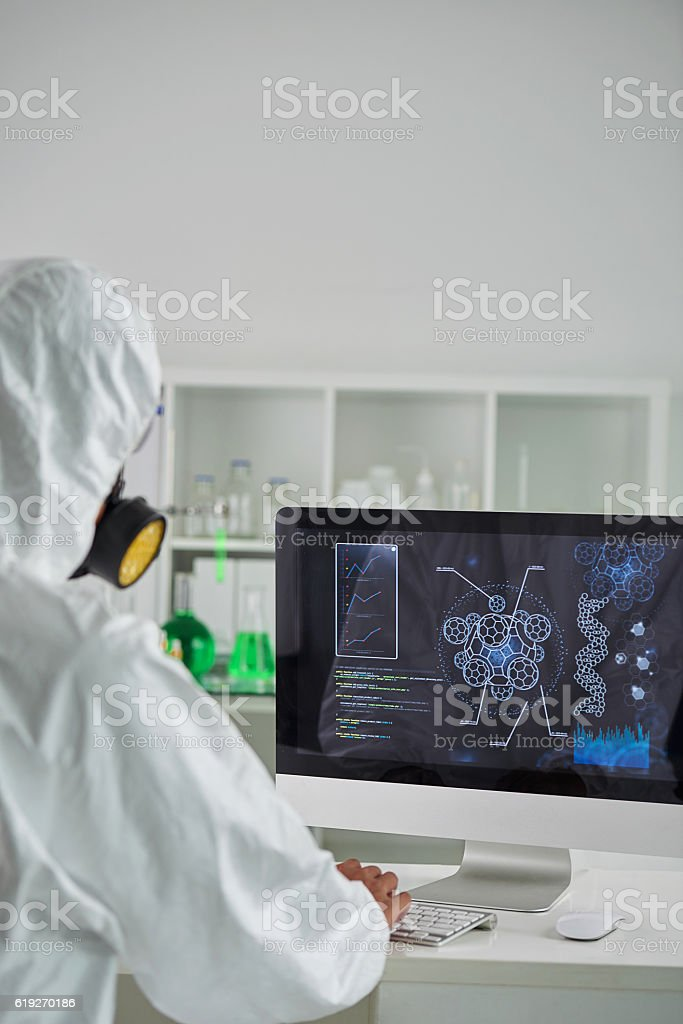 Analyzing chemical data stock photo