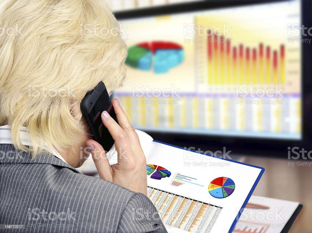 Analyzing Data royalty-free stock photo
