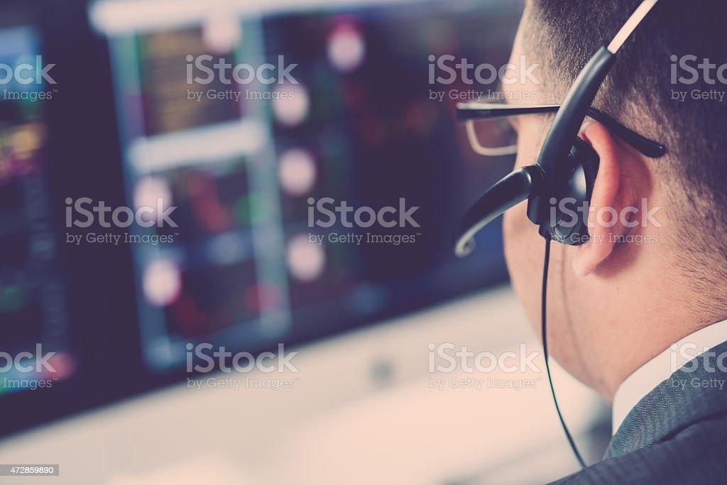 Analyzing data stock photo