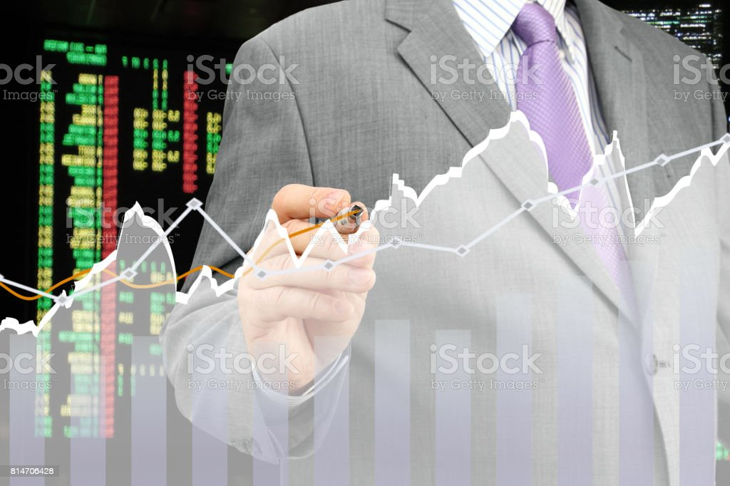 Analyzing Diagram stock photo