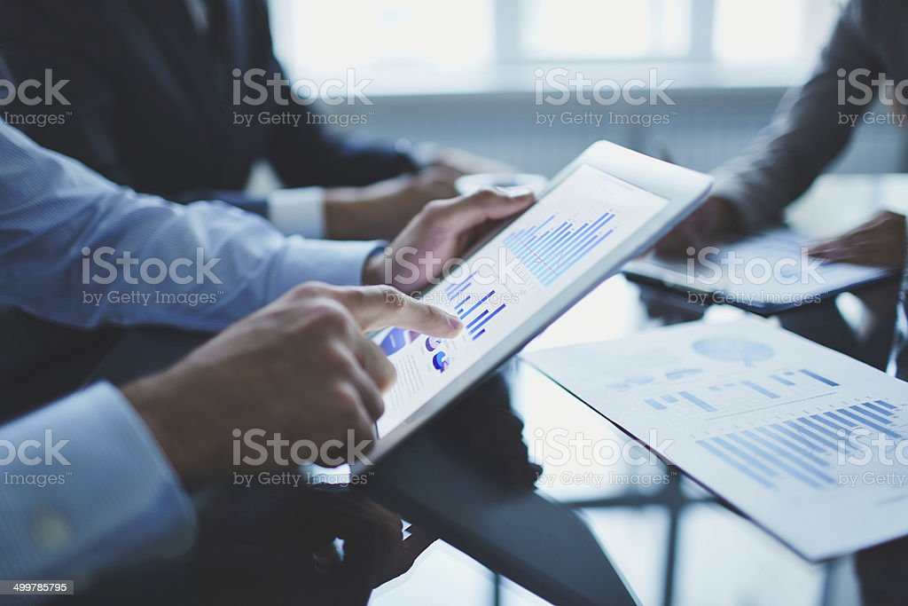 Analyzing electronic document stock photo