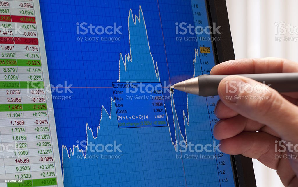 Analyzing financial market XXL stock photo
