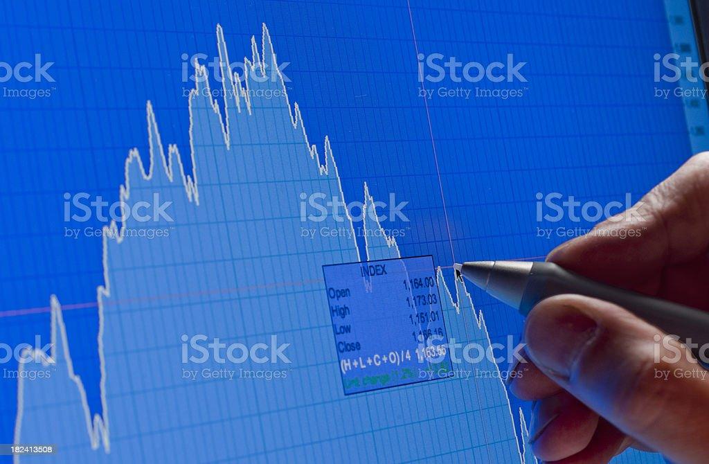 Analyzing financial market XXXL stock photo