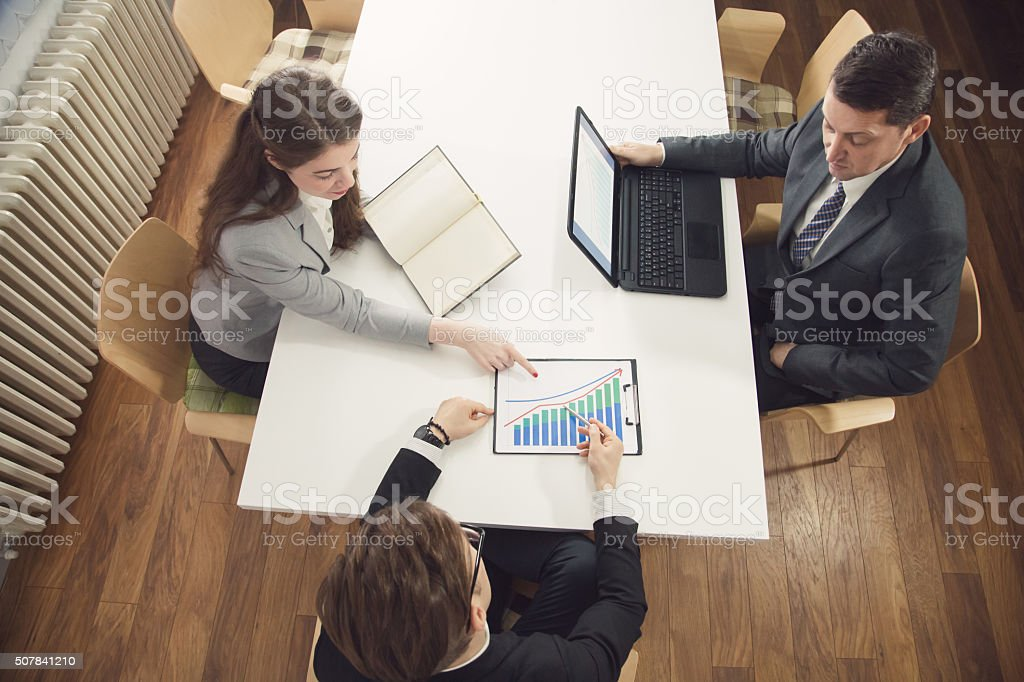 Analyzing Financial Stats stock photo