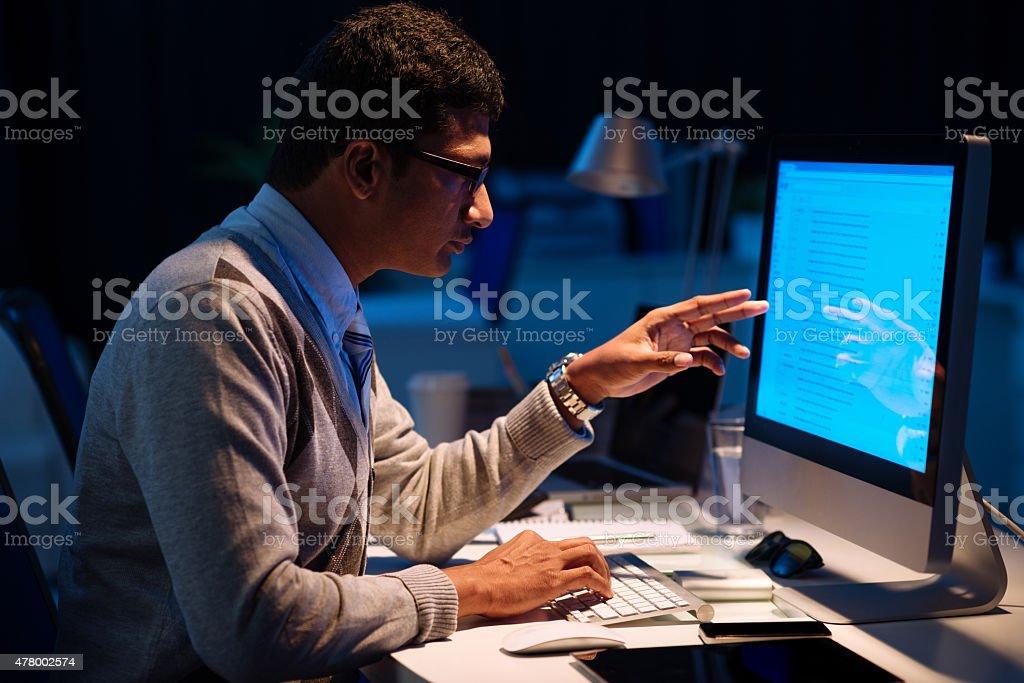 Analyzing information stock photo