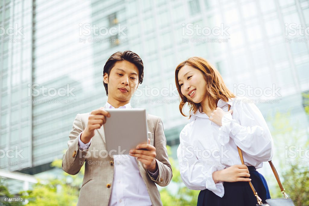 Analyzing opportunities in new start-ups stock photo