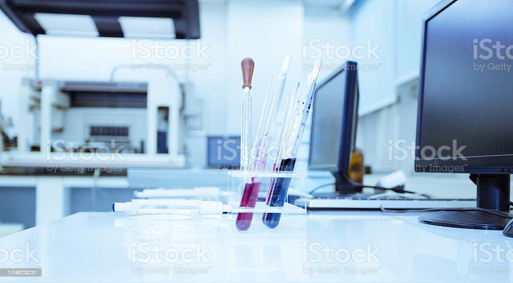Analyzing samples stock photo