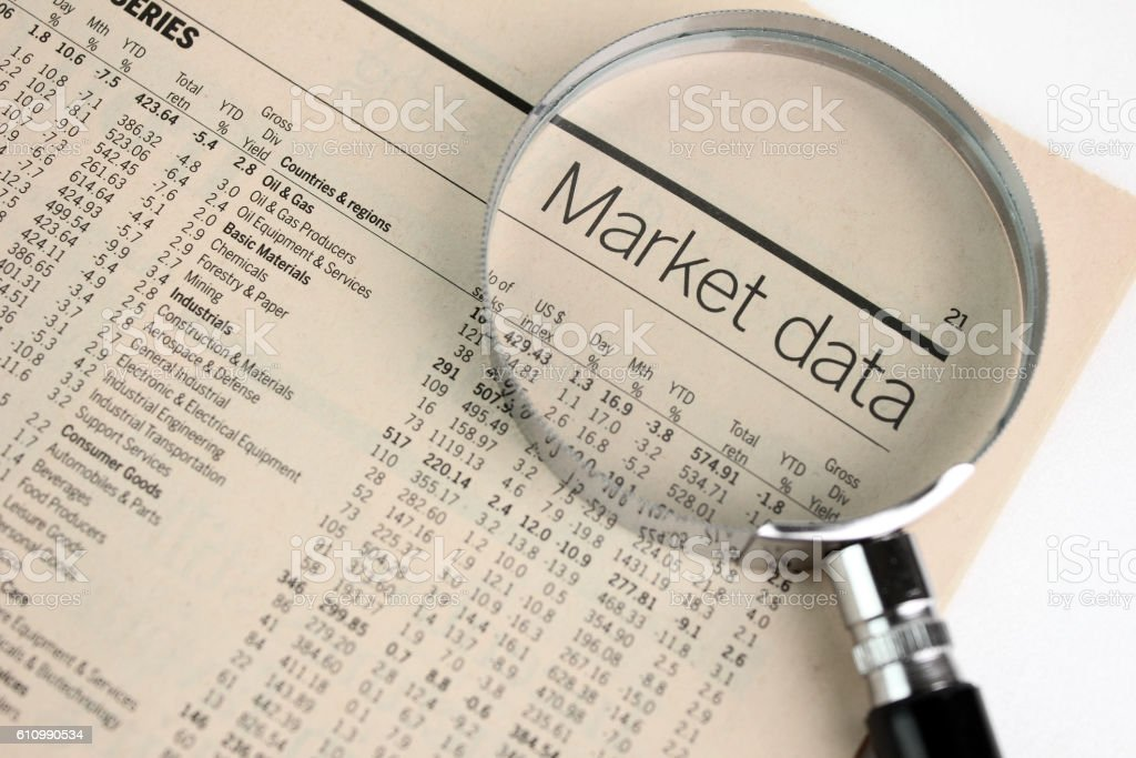 Analyzing Stock market stock photo