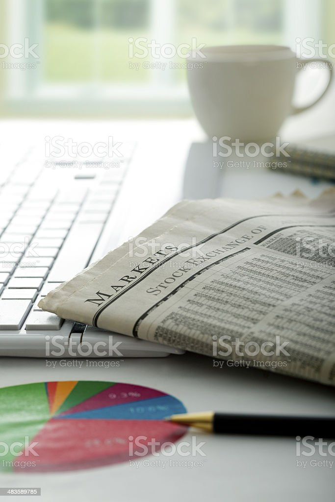 Analyzing Stock markets stock photo