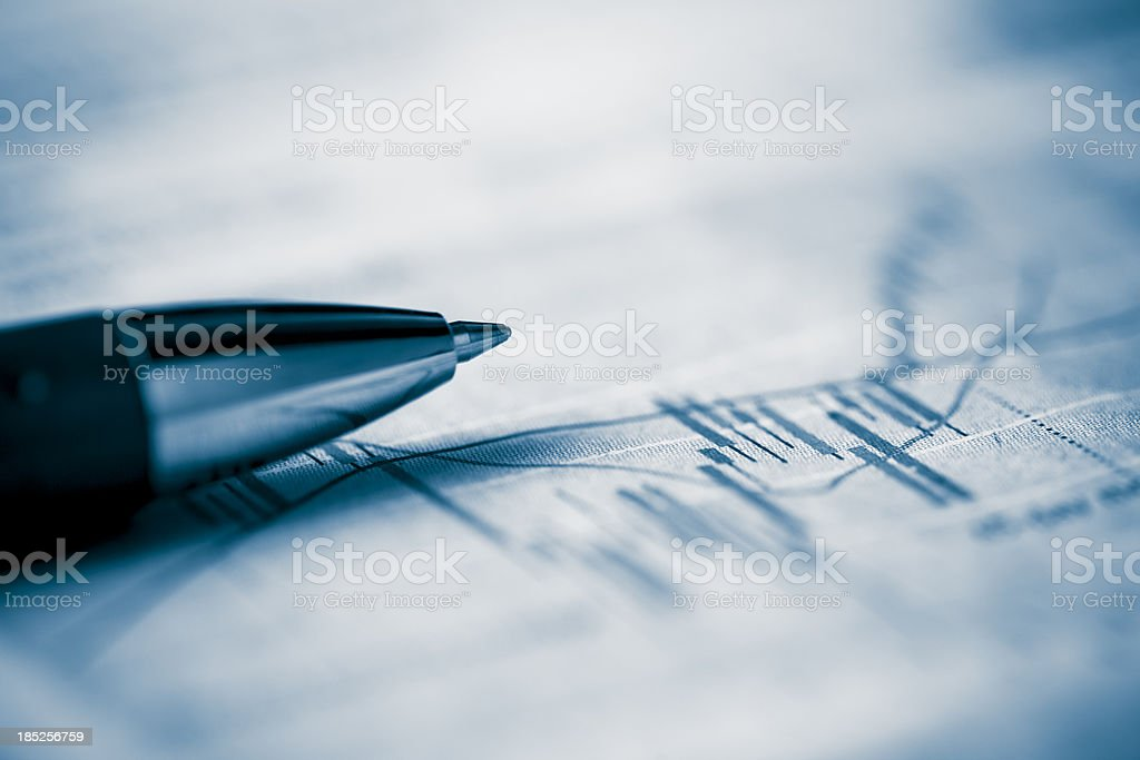 analyzing stocks royalty-free stock photo