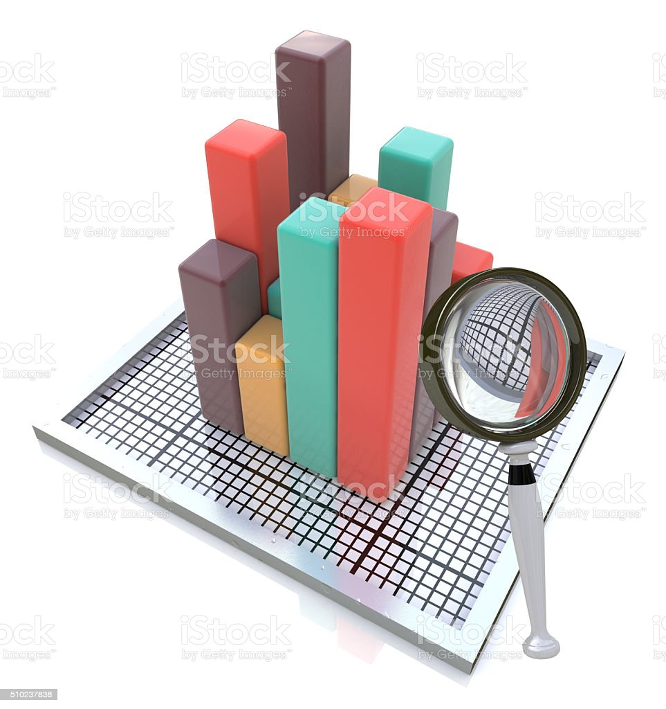 Analyzing the Data stock photo