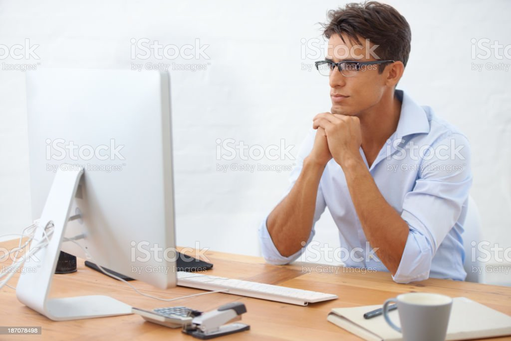 Analyzing the numbers... royalty-free stock photo