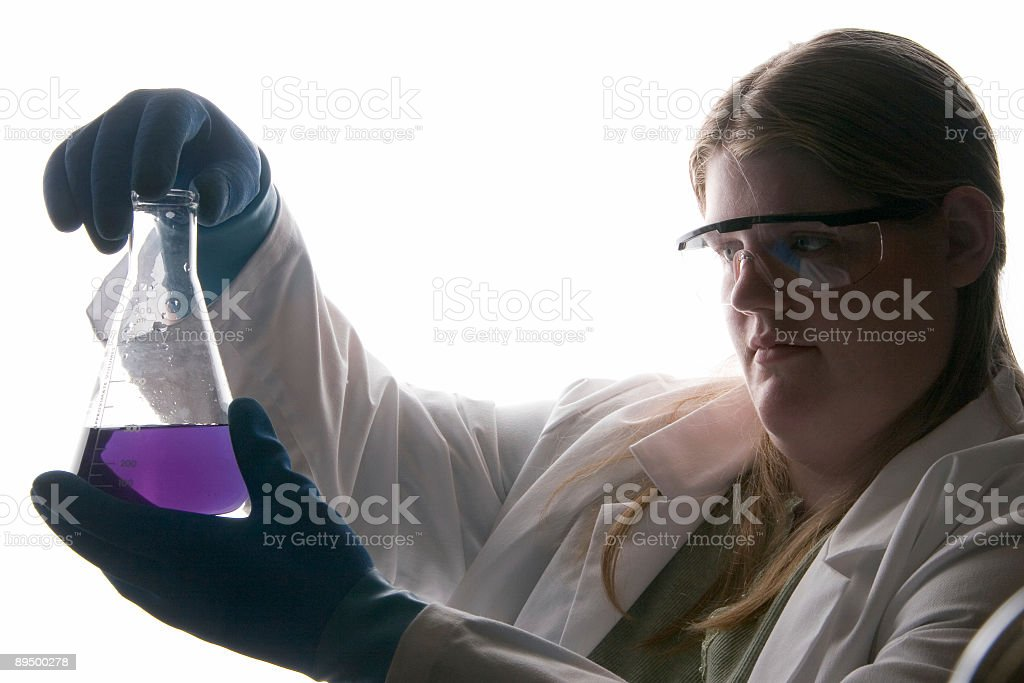 analyzing the solution royalty-free stock photo