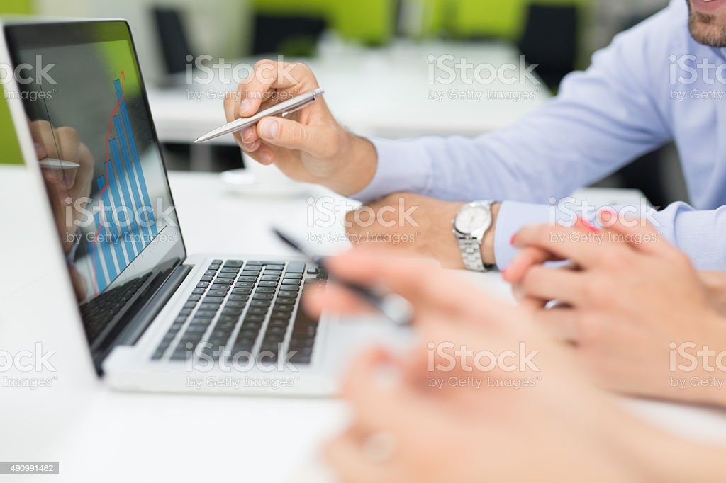 Analyzing The Success Trend stock photo