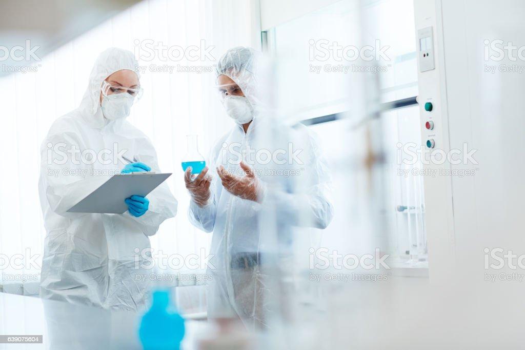 Analyzing toxic substsnce stock photo