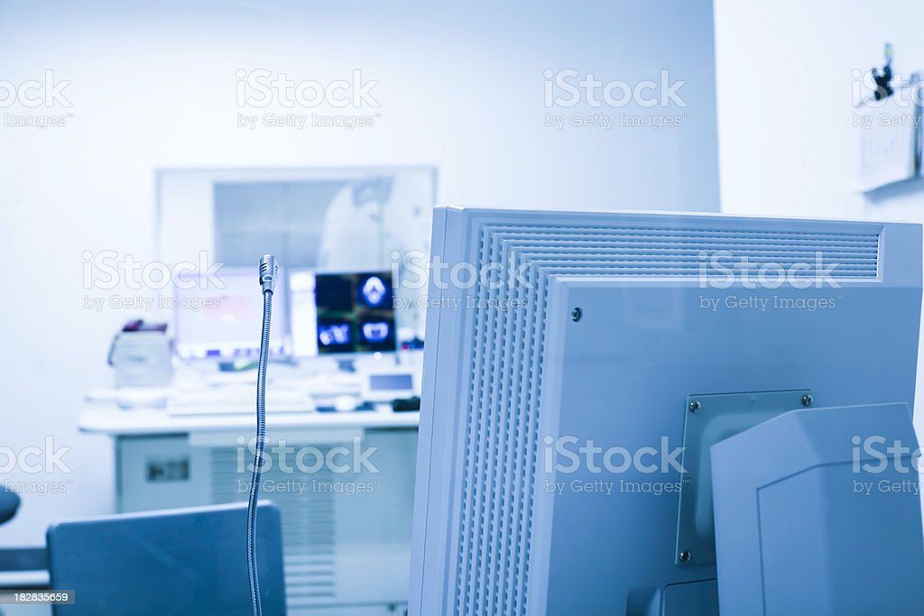 Analyzing x-ray or scann radiography royalty-free stock photo