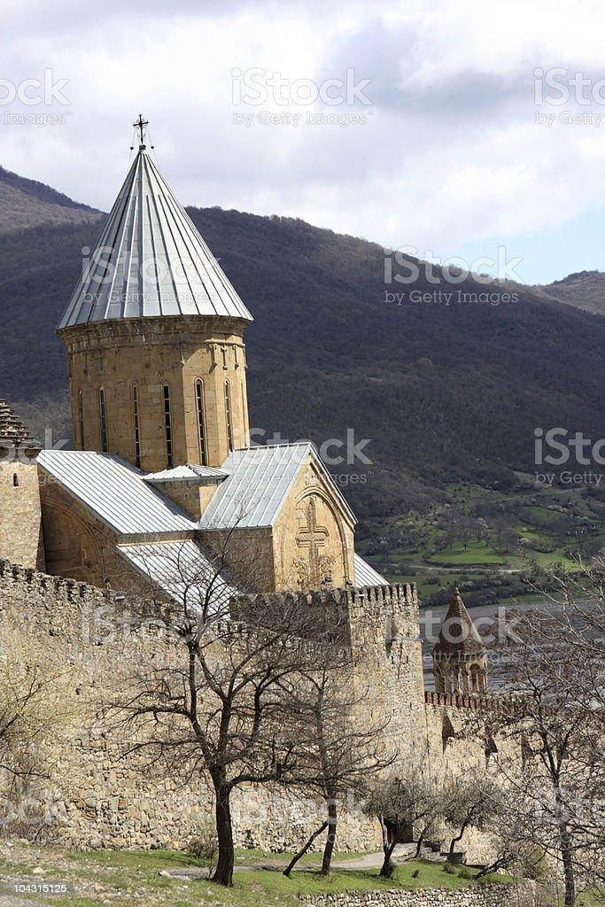 Ananuri castle complex stock photo
